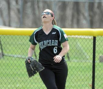 Alyssa Banca drove in three runs during Felician's Apr. 17, 2014, sweep of Nyack. (Steven R. Smith)