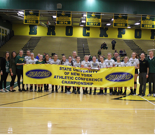 Brockport wins third consecutive SUNYAC volleyball title