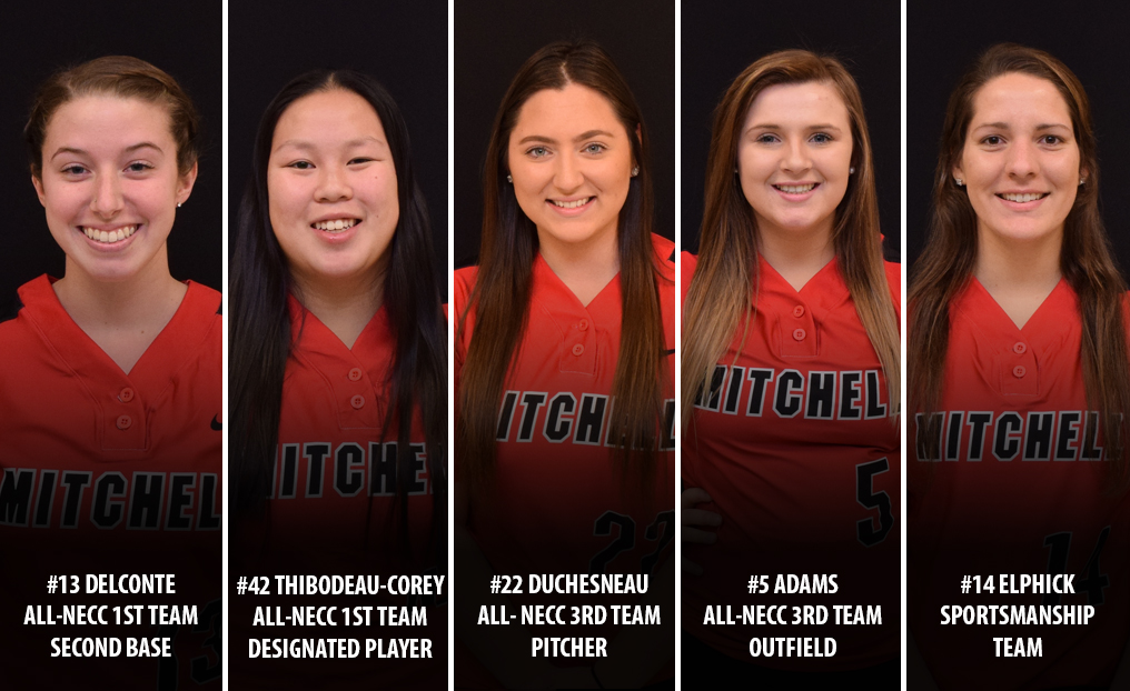Five From Softball Honored by NECC