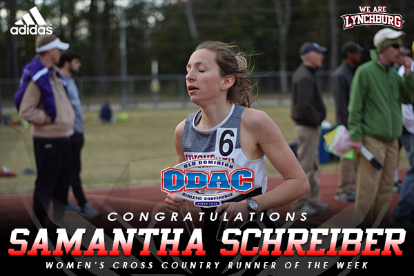 ODAC picks Schreiber as women's runner of the week