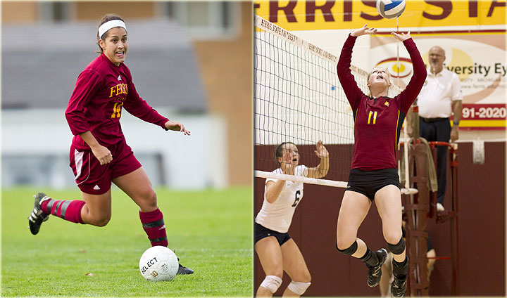 Ferris State Volleyball, Soccer Continue Fall Preparations