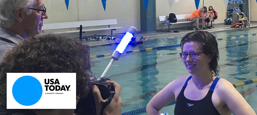 USA Today to feature Gallaudet's Frez-Albrecht and Reaction Light Systems in Friday's sports section