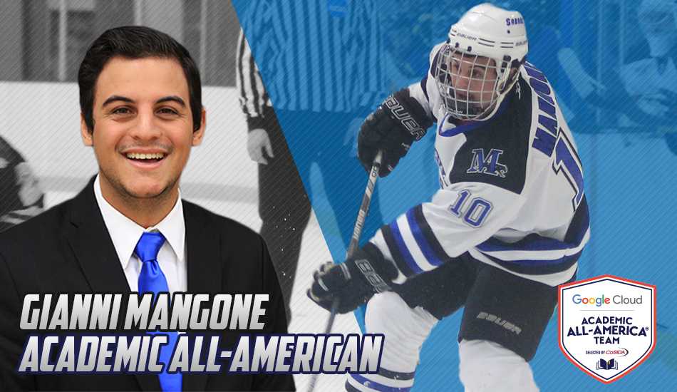 Gianni Mangone Google Cloud Academic All-American graphic.