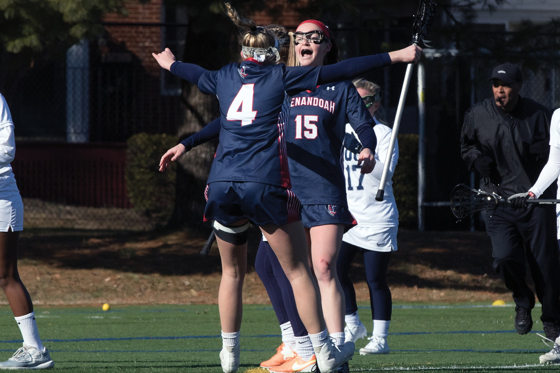 Anna Baxter scored the first goal for Shenandoah on Sunday afternoon's 19-6 victory over Ferrum College to clinch an ODAC playoff berth.