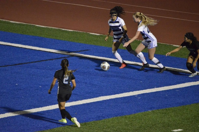 The Falcons battled San Bernardino Valley and posted a 2-0 win