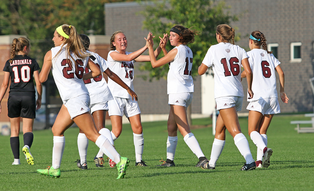 Maroon Women's Soccer Blitzes North Central 6-1