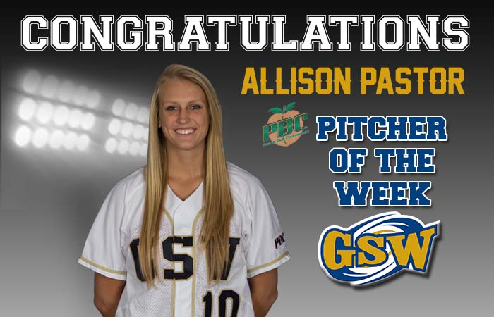 Softball's Pastor Honored as PBC Pitcher of the Week