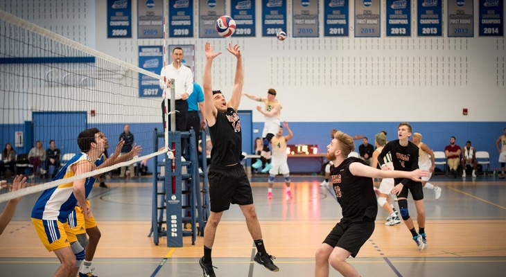Men's Volleyball Wins Twice At Sage