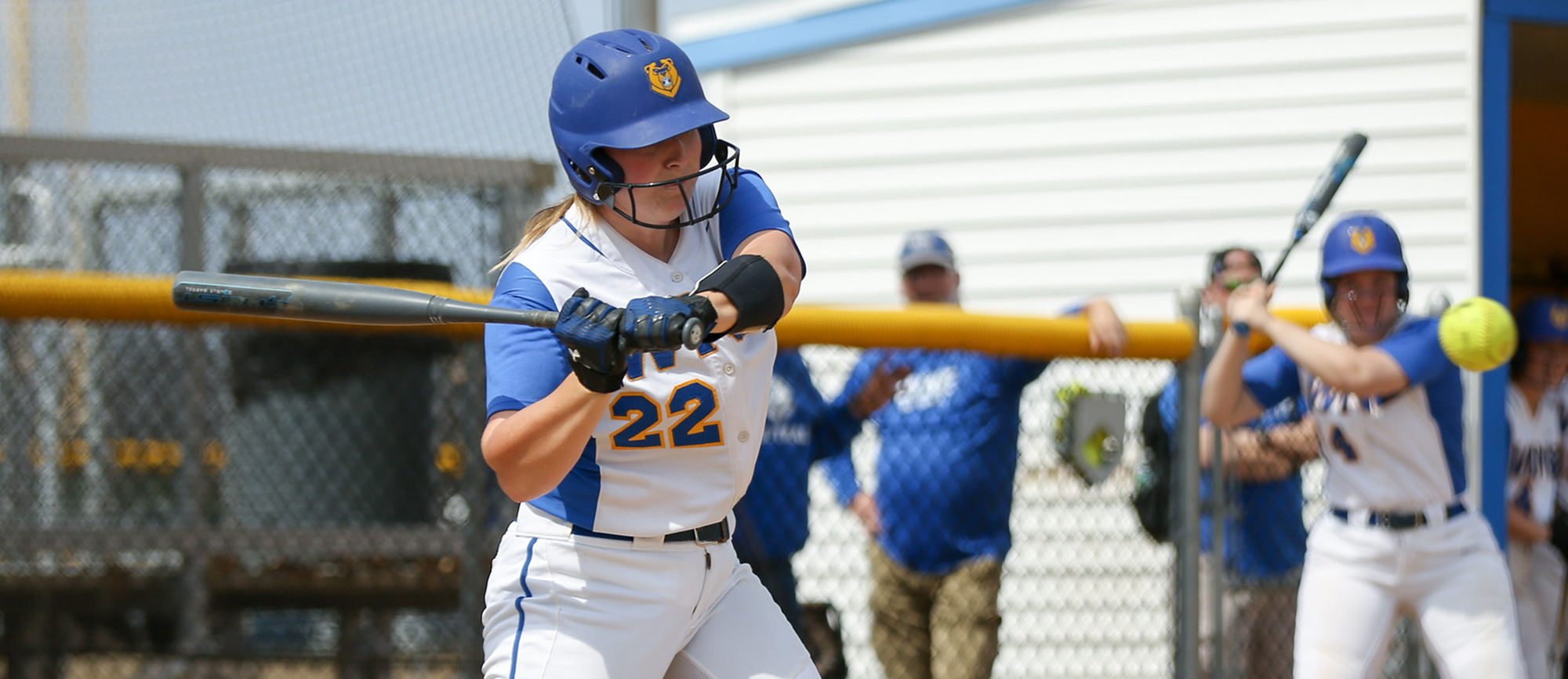 Aimee Kistner hit a three-run double in the second game of Western New England's doubleheader split with Gordon on Saturday. (Photo by Chris Marion)