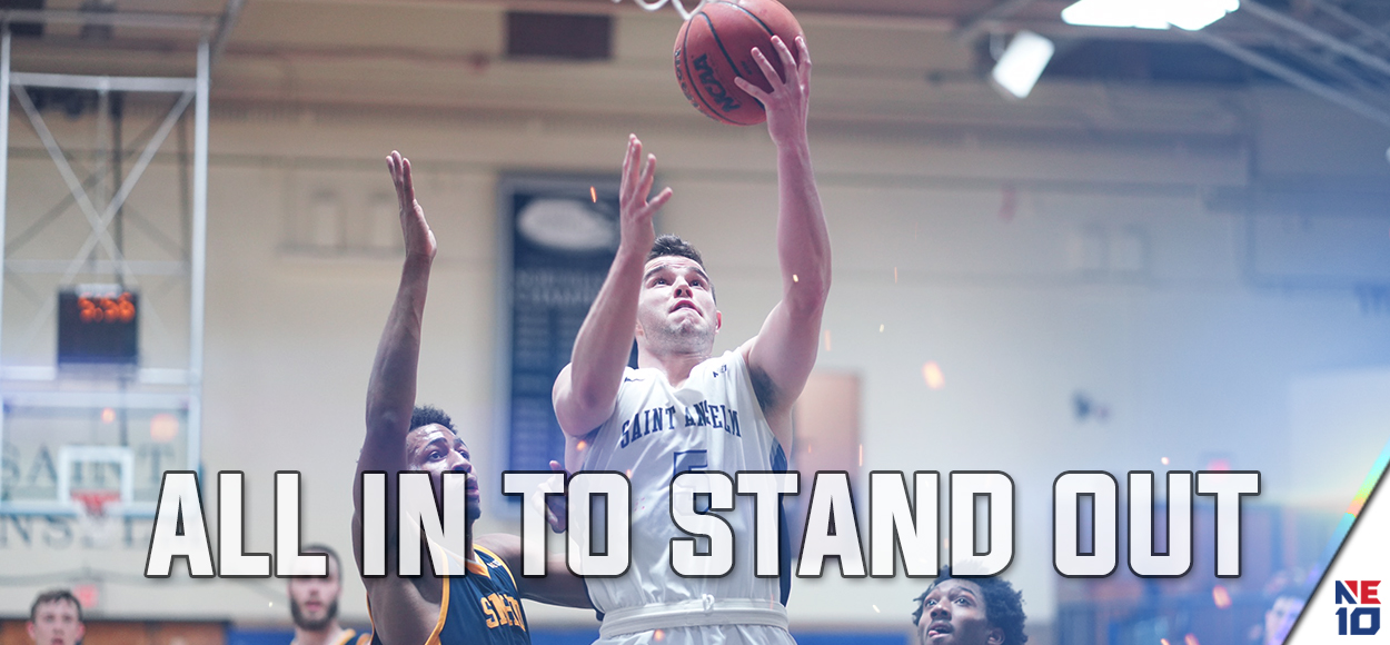 Saint Anselm's Tim Guers Named NE10 Player of the Year, as Men's Basketball Awards Announced
