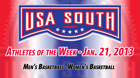 USA South Athletes of the Week - Jan. 21, 2013
