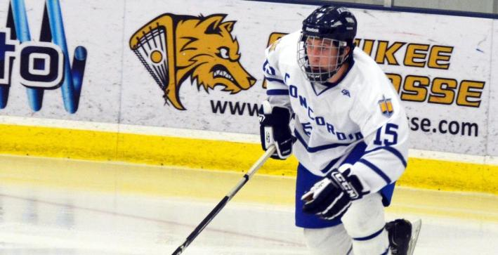 Men's Hockey rallies for victory with two third period goals at Finlandia