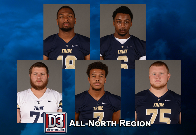 Five Football Players Garner All-Region Honors