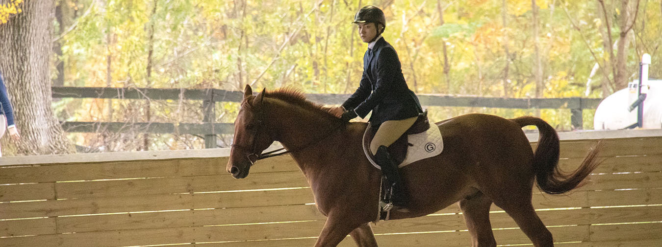 Sloan Takes Reserve High Point Rider To Help Goucher Equestrian Extend Zone IV Region I Lead At IHSA Goucher Show