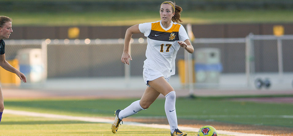 Junior Kaitlin McGuire scored the lone goal in BW's 3-1 loss against Grove City (Pa.)