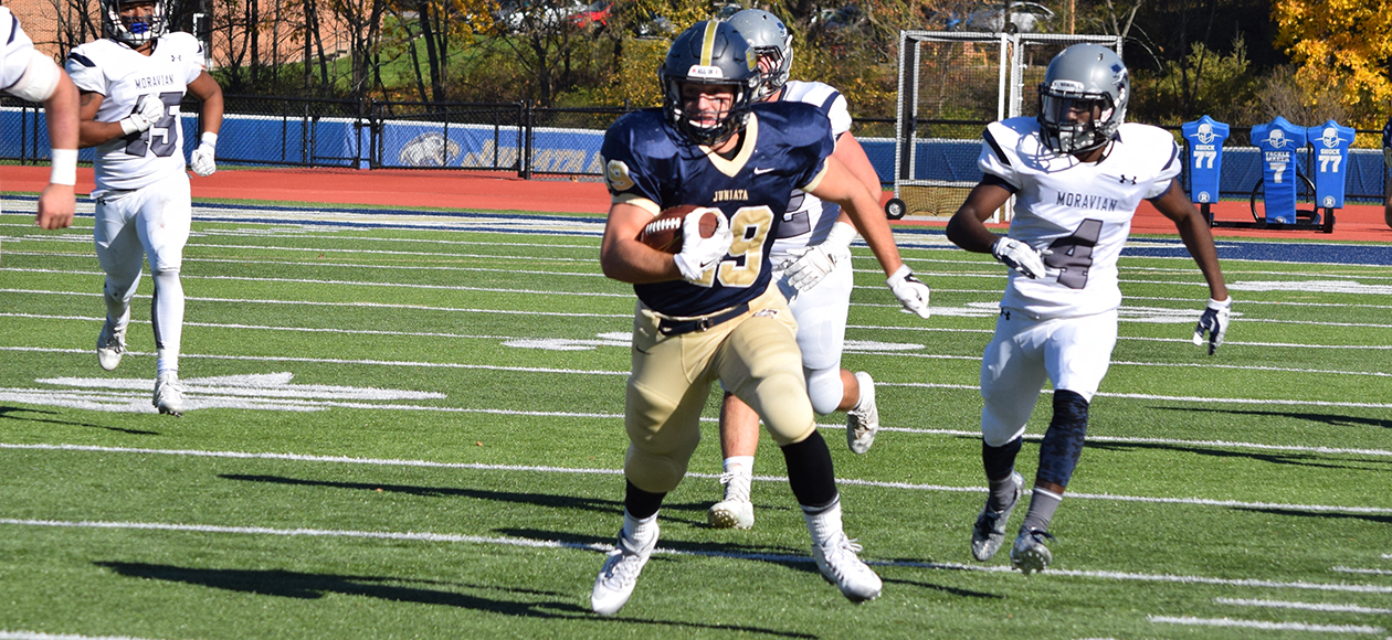 Matt Lehr rushed for 125 yards and a career-high three touchdowns against the Greyhounds.