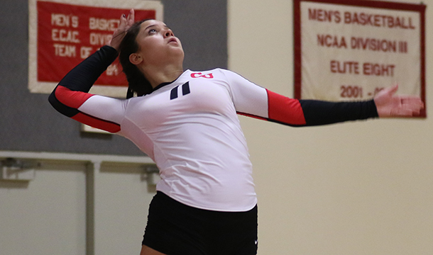 Volleyball Pushes Smith Aside, 3-0