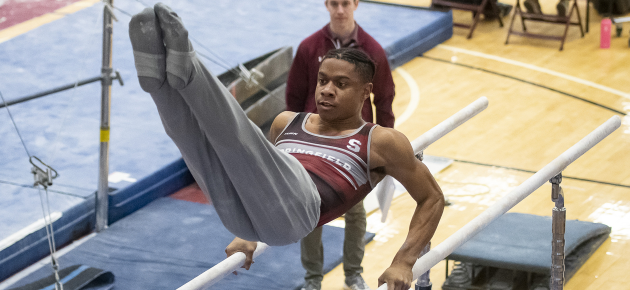 Lewis Shines As Men's Gymnastics Splits With William & Mary and Temple