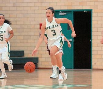 Eliana Scanlon (3) had nine points and 11 assists in Felician's 83-48 win over Dominican-NY on Feb. 12, 2013.