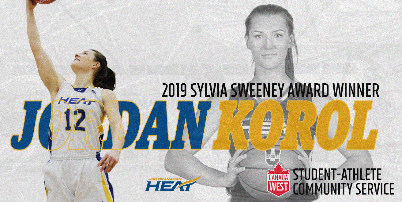 AWARDS: Jordan Korol named the Student-Athlete Community Service Award Winner in Canada West