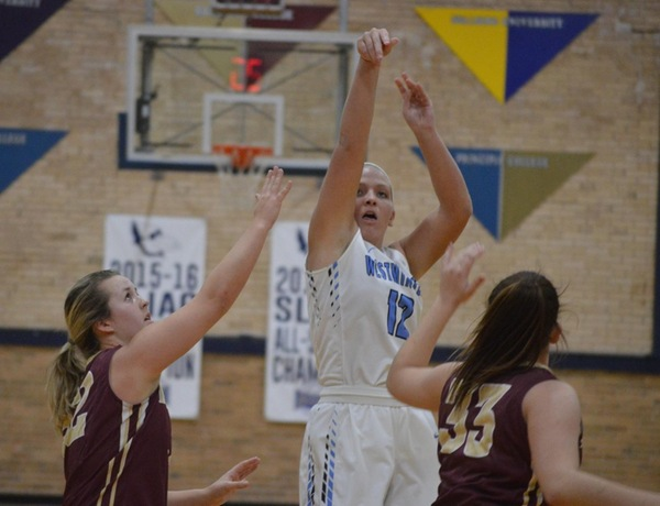 Westminster Women's Basketball Cruises Past Barclay, Breaks Scoring Record