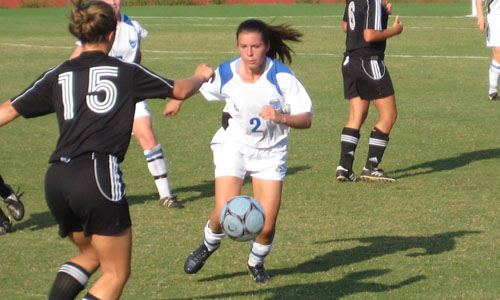 Alyssa Caracena scored one goal and assisted on three more in Brevard