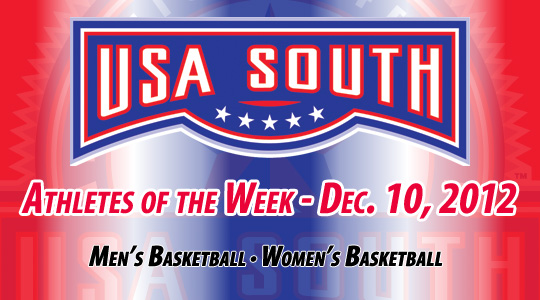 USA South Athletes of the Week - Dec. 10, 2012