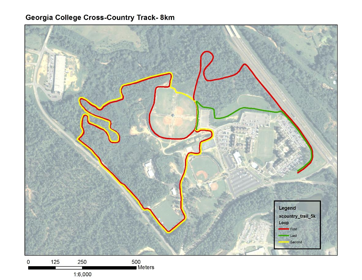 west campus cross country course georgia college