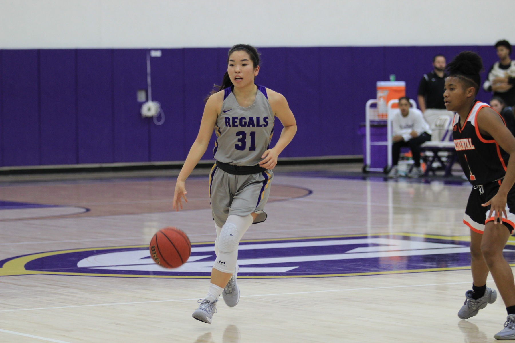 Sophomore guard Mackenzy Iwahashi knocked down a pair of free throws to give the Regals the lead with five seconds left in their 81-79 win over UC Santa Cruz. (Photo Credit: Gabby Flores)