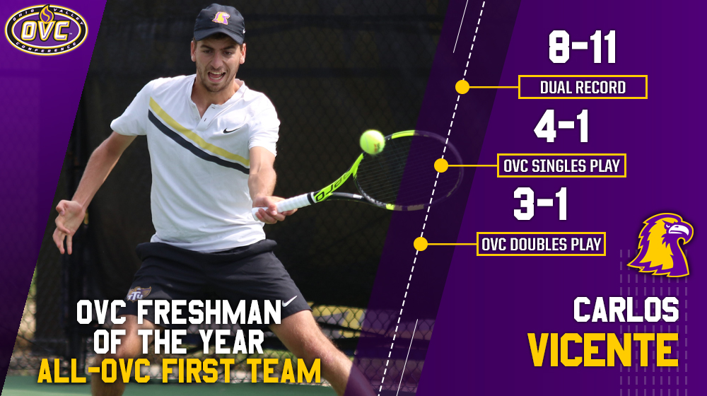 Tech tennis places four on All-OVC first and second team; Vicente earns Freshman of the Year honor
