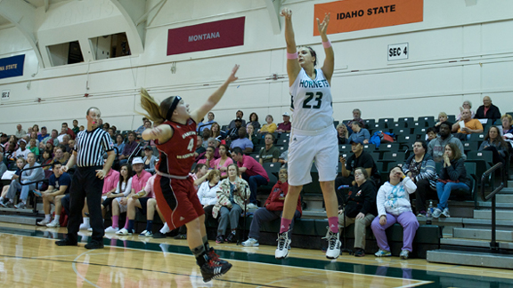 WOMEN'S BASKETBALL RALLIES BUT FALLS SHORT 79-73 VS. EASTERN WASHINGTON