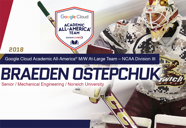 Braeden Ostepchuk - CoSIDA Academic All-American of the Year (Beau White/CoSIDA)