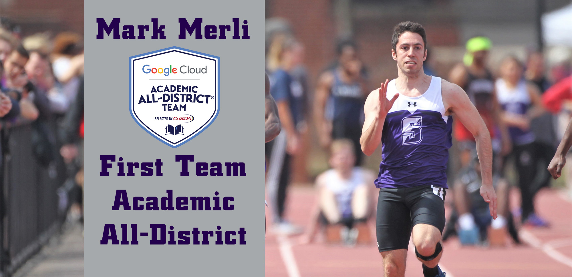 Senior Mark Merli was named to the CoSIDA Academic All-District First Team on Tuesday. © Photo by Timothy R. Dougherty / doubleeaglephotography.com