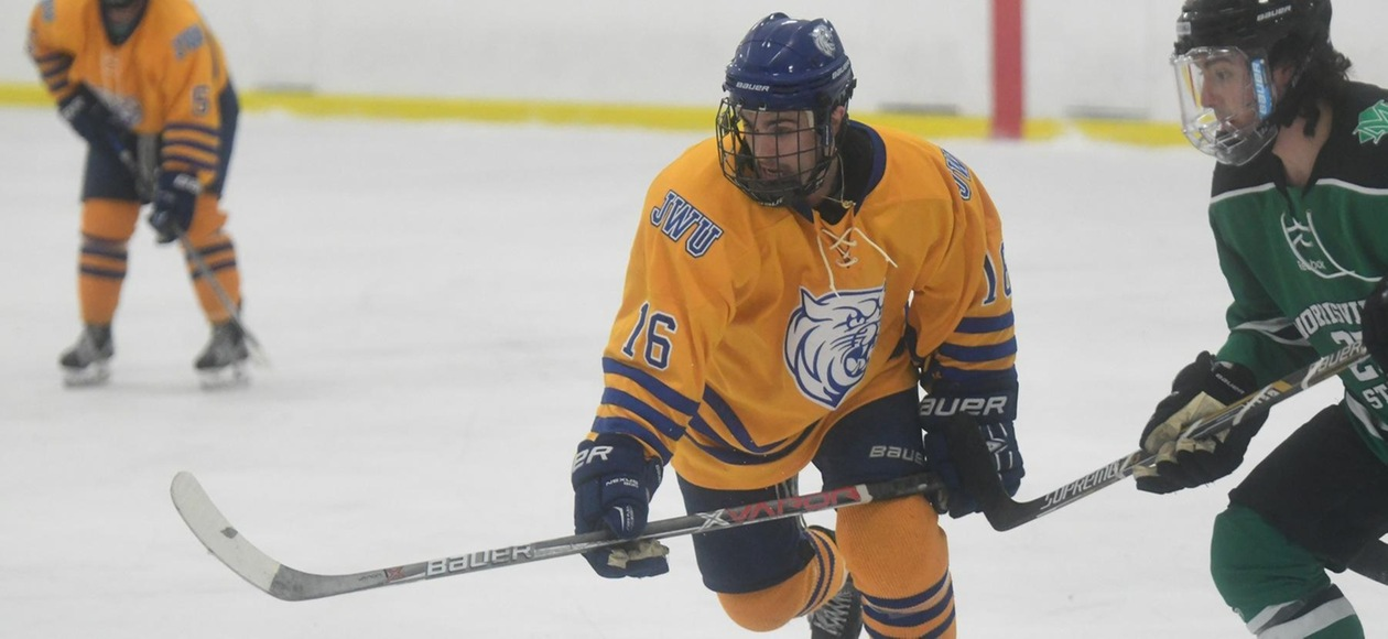 Men's Ice Hockey Loses 8-4 Shootout at UNE
