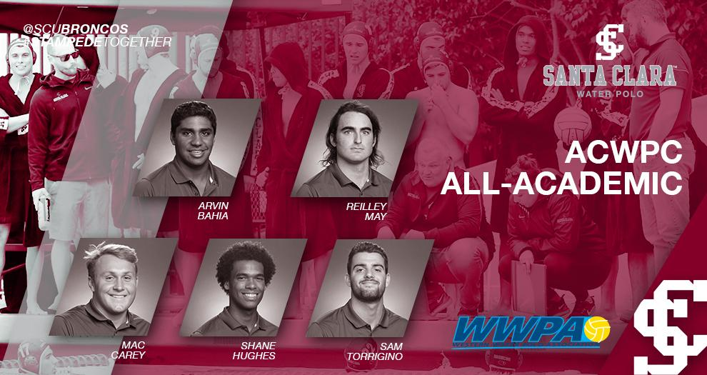 Five Men's Water Polo Players Named ACWPC All-Academic