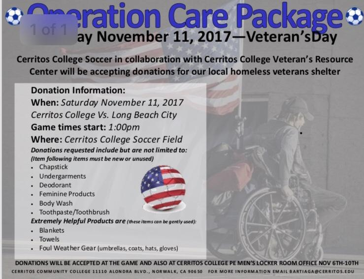 Falcon soccer to host Operation Care Package