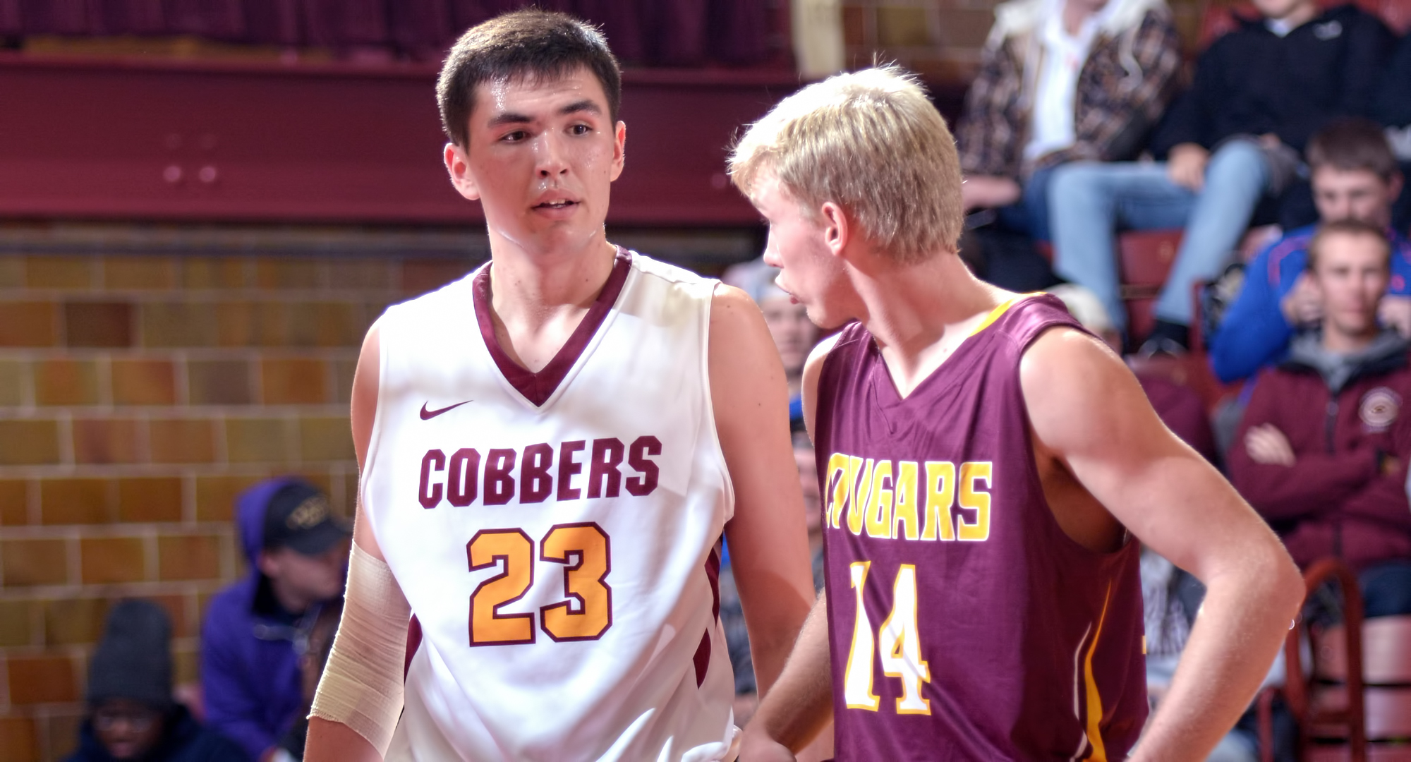 Jordan Davis had a career-high 15 points in the Cobbers' MIAC opener at Augsburg.