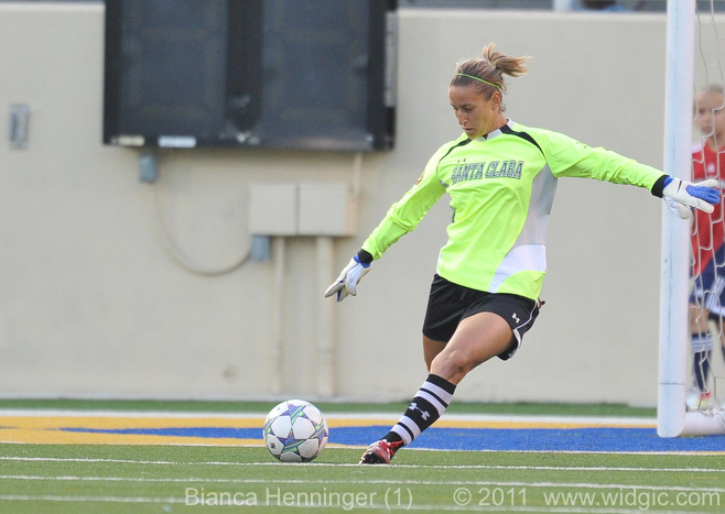 Bianca Henninger In Goal at San Jose State