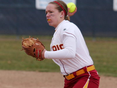 Lainee Clay's game-winning three-run homer in Saturday's 9-7 victory marked her first for the Crimson and Gold.