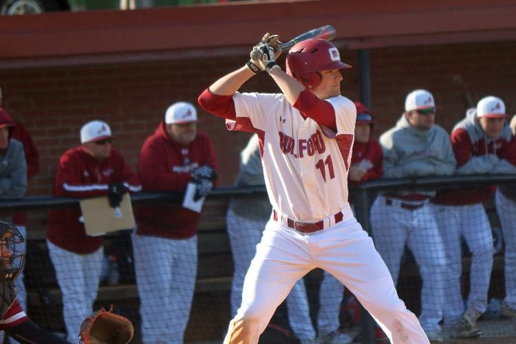 Guilford Baseball Splits with William Peace on Sunday