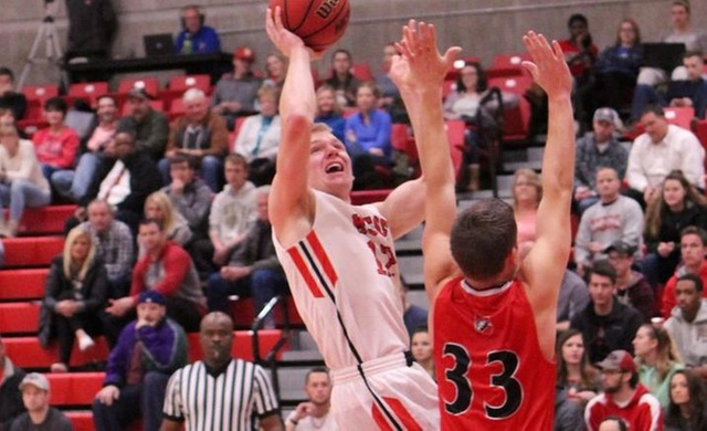 Men's Basketball Can't Keep Up in Shootout at Aurora