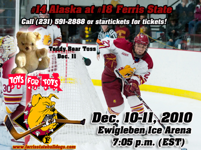 #18 Ferris State Hockey Battles #14 Alaska This Weekend
