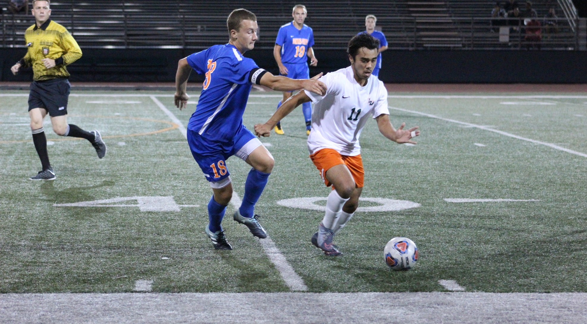 Men's Soccer plays No. 19 Redlands to tie