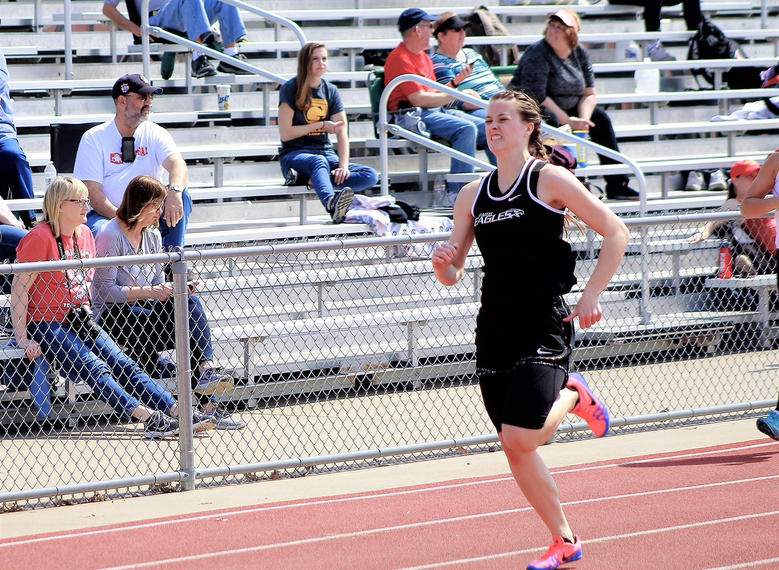 Chelsea Ratliff's time in the 400m is the eighth fastest in the nation in NCCAA competition