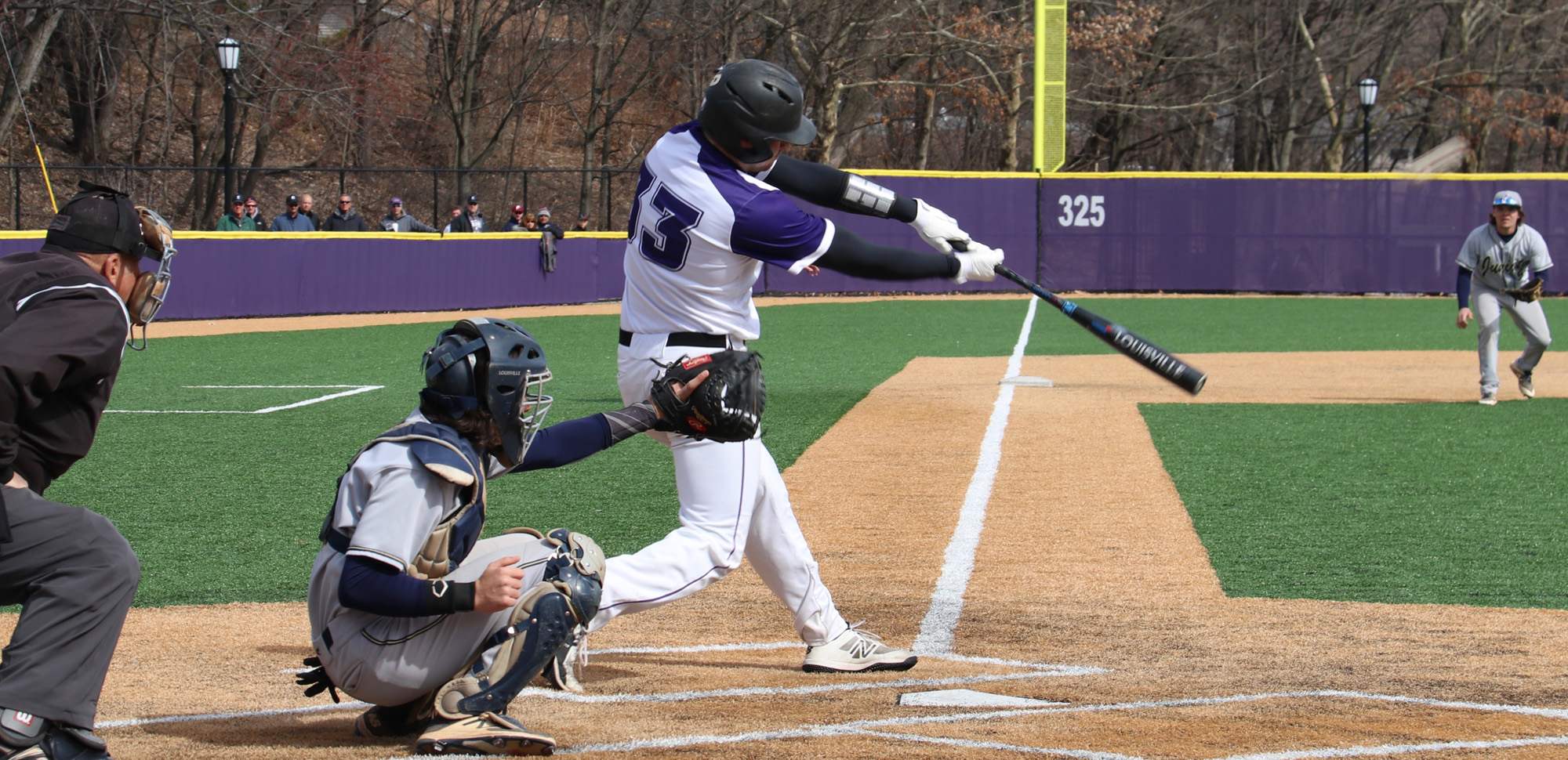 Senior Ian McIntosh led all players with three hits on Sunday night and collected his 100th career with a fourth-inning single in Scranton's win over Elizabethtown. © Photo by Timothy R. Dougherty / doubleeaglephotography.com