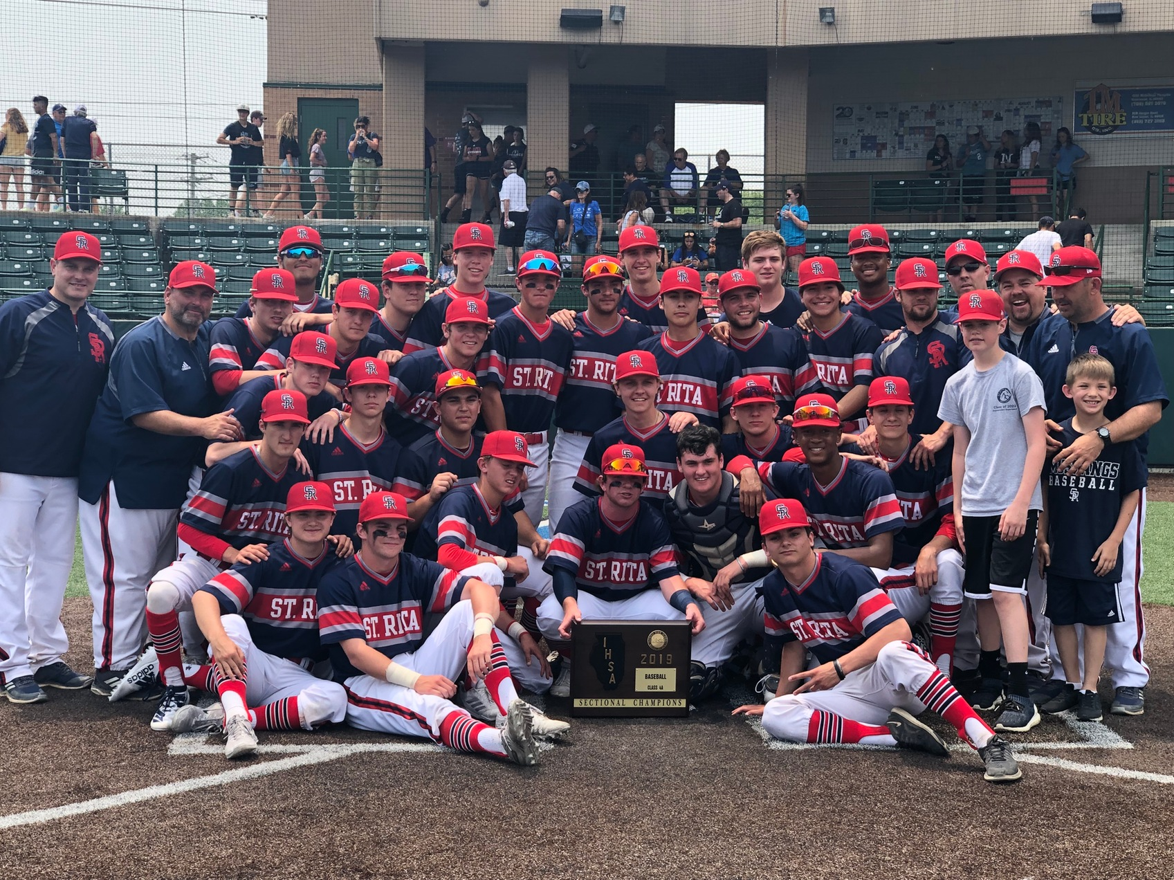 St. Rita Baseball wins the Class 4A Sectional Championship with a 7-0 win over Nazareth!