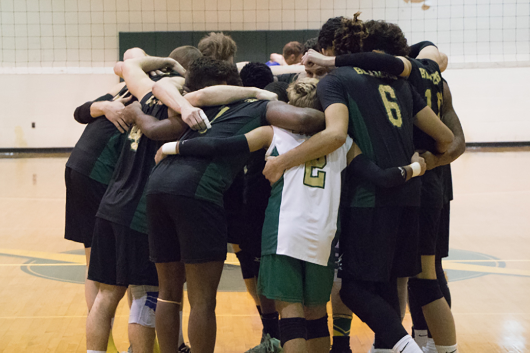Sage Sweeps Men's Volleyball