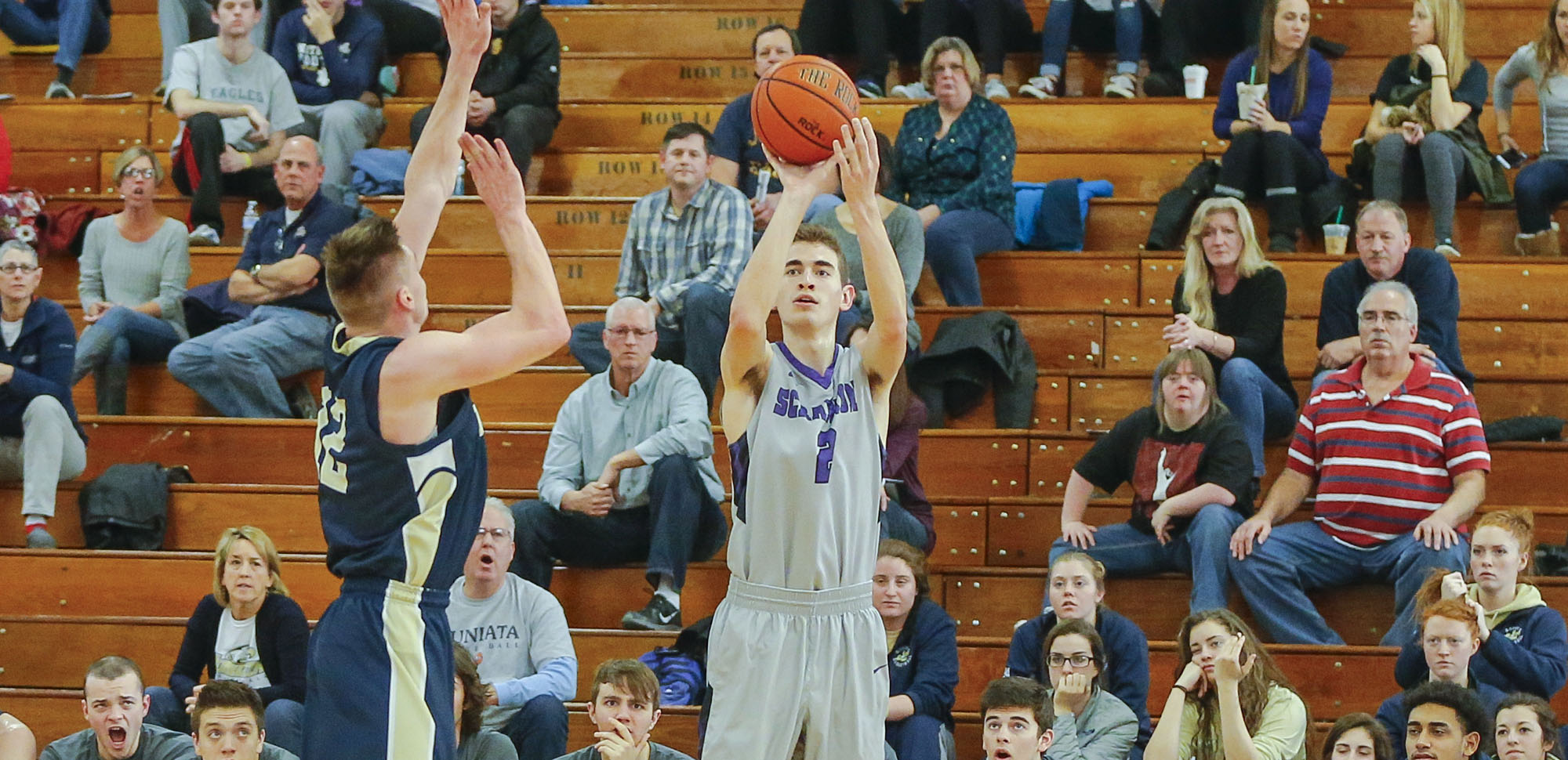 Junior guard Ethan Danzig's clutch four-point play late in the second half helped spark the Royals past 15th-ranked Susquehanna on Wednesday night.