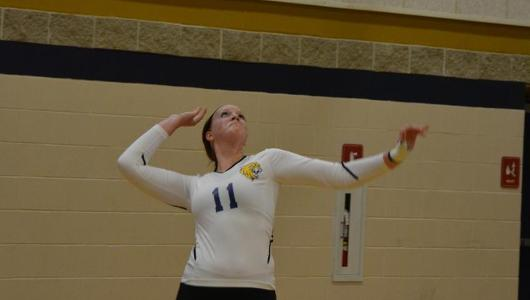 Women's Volleyball Splits GNAC Tri-match