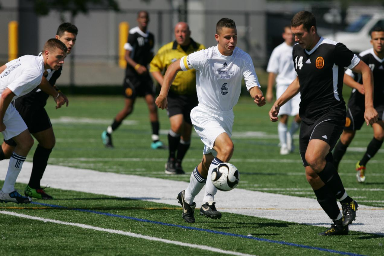 White Nets Second Goal Of Season, Young Makes Four Saves As Men's Soccer Drops 2-1 MASCAC Decision To Fitchburg State